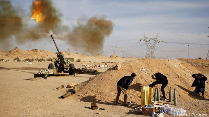 Libyen Kämpfe bei Sirte
