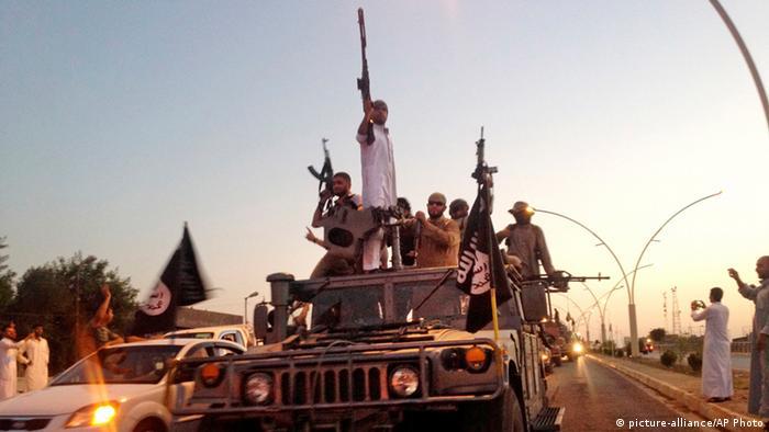 Islamic State members in Mosul