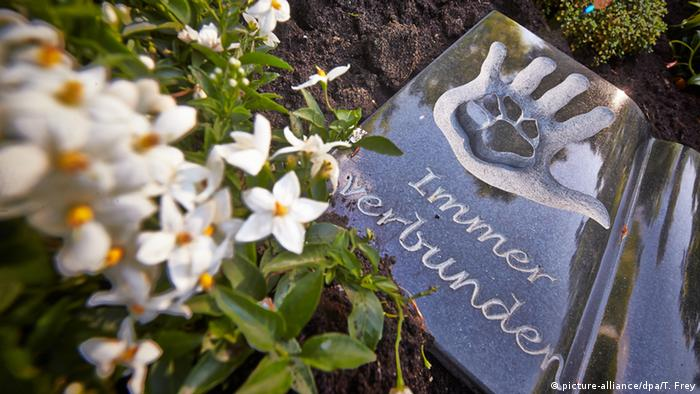 Cemetery for pets and their owners in Braubach, Germany