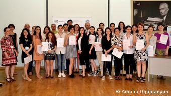 Students received certificates for their presentations. Photo: Amalia Oganjanyan