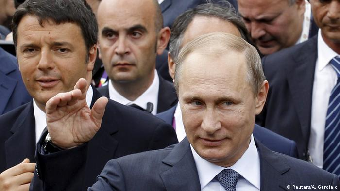 Russland Italien Putin und Renzi bei Expo 2015 in Mailand (Reuters/A. Garofalo)