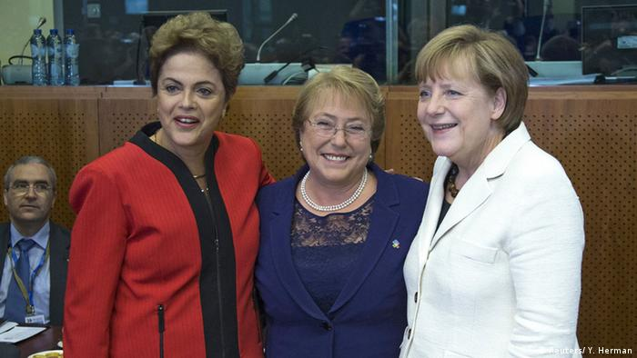 Dilma Rousseff, Michelle Bachelet, Angela Merkel