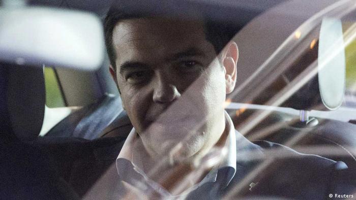 Alexis Tsipras nach Gesprächen mit Merkel und Hollande in Brüssel