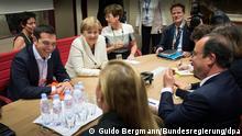 Belgien Treffen Merkel, Hollande, Tsipras