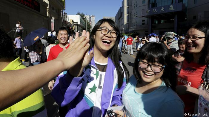 Asien Schulbeginn Peking