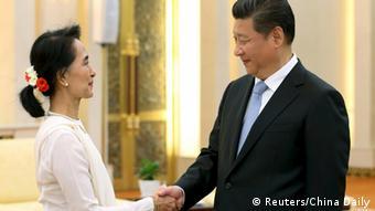 China Myanmar Aung San Suu Kyi bei Xi Jinping