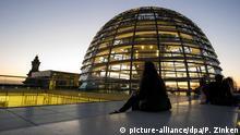 BdT Deutschland Leuchtende Bundestag-Kuppel