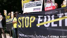 Deutschland Demo für die Freilassung Raif Badawis in Berlin
