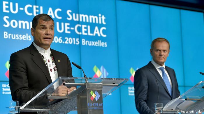 EU-Celac Gipfel in Brüssel Abschluss-PK Tusk und Correa