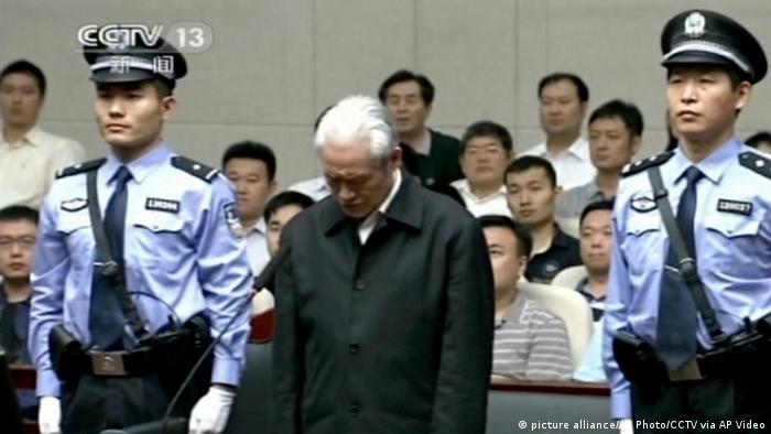 Former security chief Zhou Yongkang in court