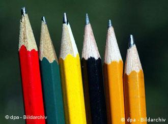 A row of pencils