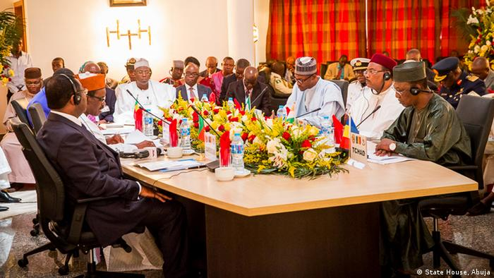 Leaders of the Lake Chad Basin Commission meeting in Abuja
