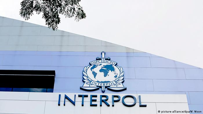 Singapur Interpol Logo