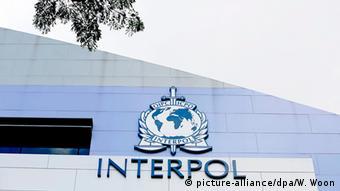 Singapur Interpol Logo