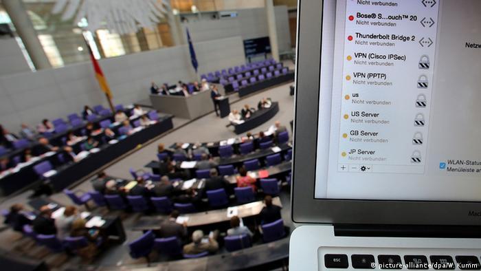 Deutschland Bundestagsdebatte Vorratsdatenspeicherung