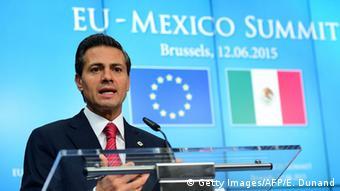 Brüssel Pena Nieto EU-Mexiko Gipfel (Getty Images/AFP/E. Dunand)