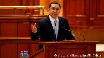 Rumänien Misstrauensvotum Premierminister Victor Ponta
