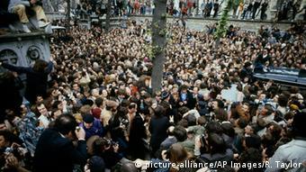 Frankreich Beerdigung von Jean-Paul Sartre