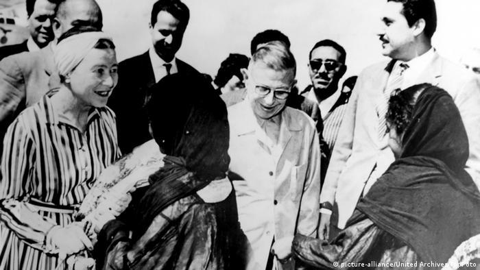سیمون دوبوار و ژان پل سارتر در سفر به مصر، ۱۹۶۷