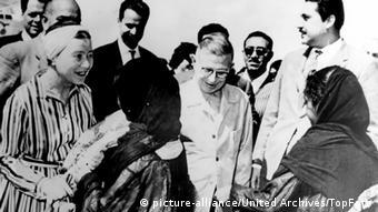 Frankreich Jean-Paul Sartre und Simone de Beauvoir in Ägypten