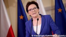Polen Premierministerin Ewa Kopacz