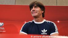 12.06.2015 ### German head coach Joachim Loew attends a press conference at the team hotel in Almancil, Portugal, 12 June 2015. Germany will face Gibraltar in the European qualifiers in Faro on 13 June 2015. Photo: Arne Dedert/dpa