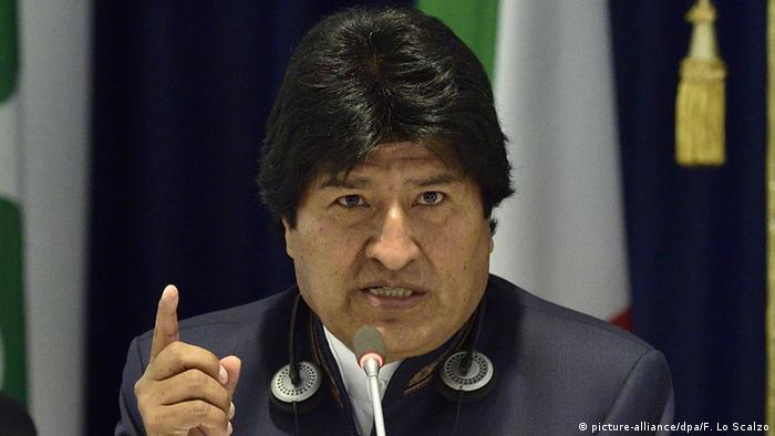 Italien Boliviens Präsident Evo Morales in Mailand