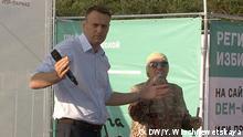 Russland Kaluga Opposition Alexey Navalny Treffen