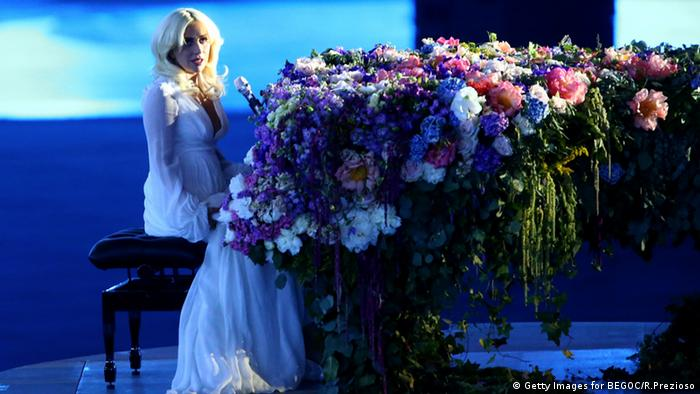 Lady Gaga sings at the opening ceremony of the European Games