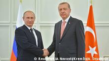 Aserbaidschan Treffen Putin und Erdogan in Baku