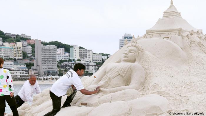 Sandskulpturenfestival in Shirahama Japan