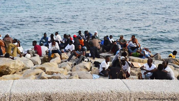 Migrants at French-Italian border in Ventimiglia