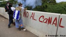 Nicaragua Protest gegen den geplanten Nicaragua-Kanal