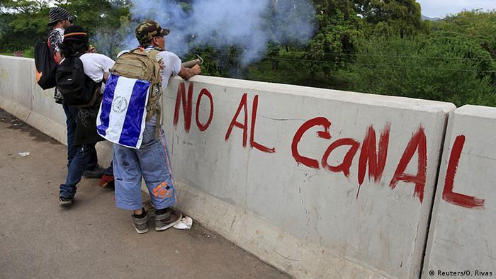Protestas contra la construcción del canal en Nicaragua. (2015).