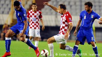 Das Fußball-EM-Qualifikationsspiel Kroatien - Italien (Foto: AFP)