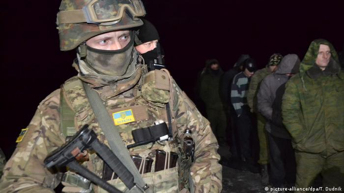 A Ukrainian army soldier