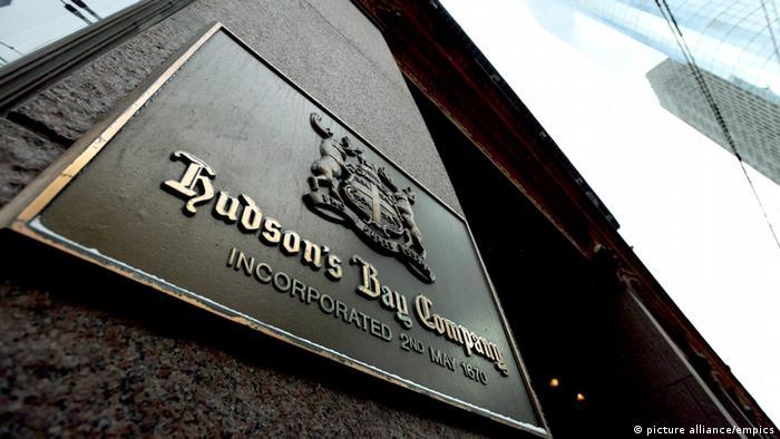 Kanada Hudson's Bay Company Handelsgruppe Schriftzug (picture alliance/empics)