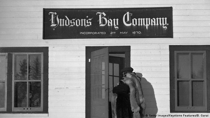 An old photo of the Hudson's Bay Company