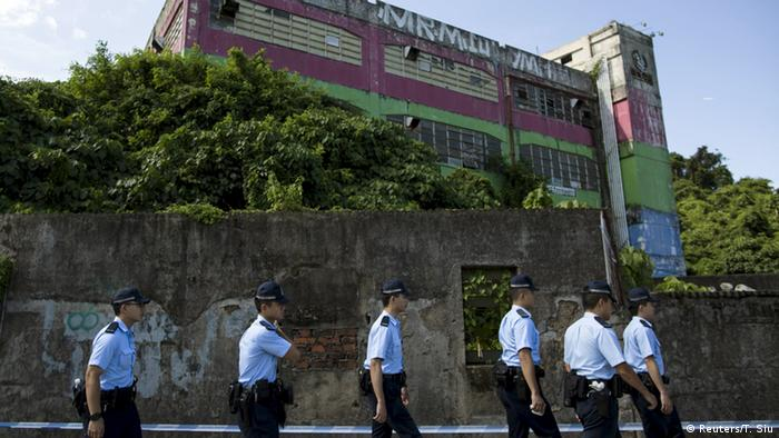 China Polizei findet Spengstoff in Hongkong