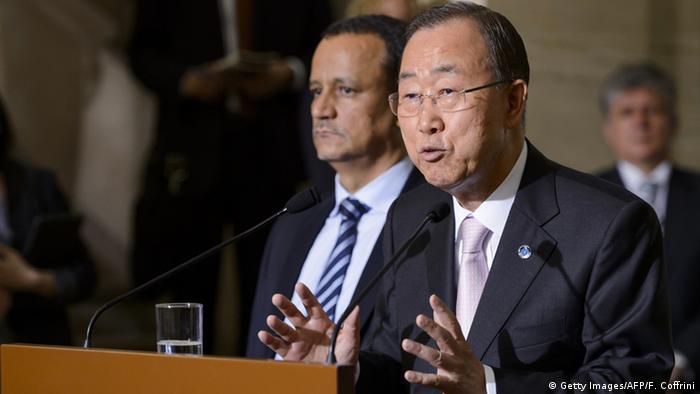 UN Genf Friedensgespräche für Jemen Ban Ki-Moon