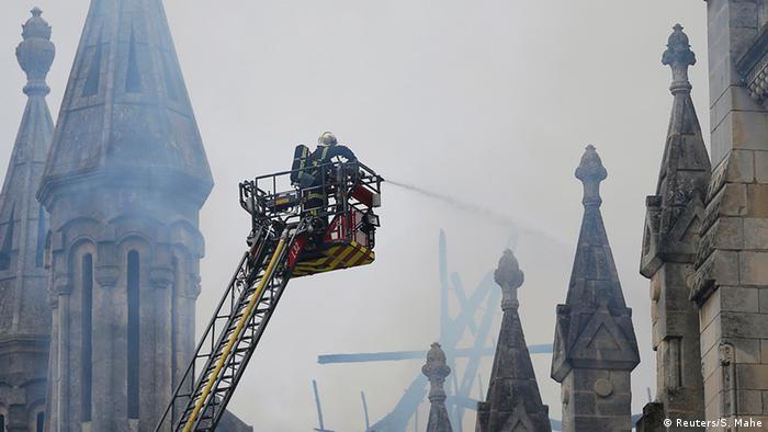 Frankreich Brand Kirche Nantes