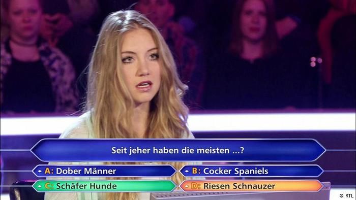 'Who wants to be a millionare?' contestant, Tanja Fuß