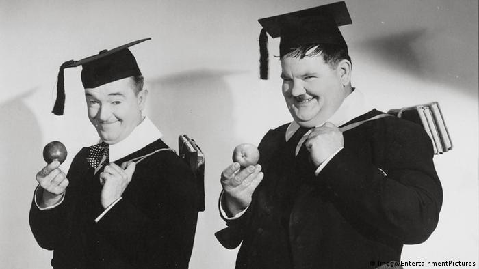 Laurel and Hardy still from A Chump At Oxford (Imago/EntertainmentPictures)