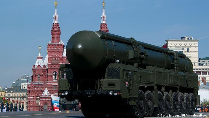 Moskau Russische Interkontinental Rakete Atomwaffen Russland (Getty Images/AFP/N. Kolesnikova)