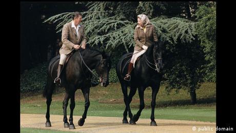 Königin Elisabeth II. Ronald Reagan Reiten