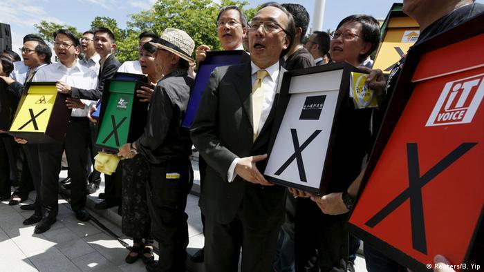 China Demonstration für Demokratie in Hongkong