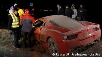 Autounfall Arturo Vidal