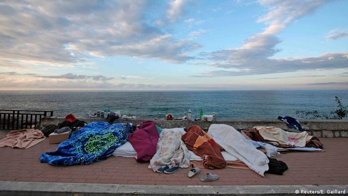 Italien Frankreich Grenze Flüchtlinge (Reuters/E. Gaillard)