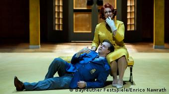 Bayreuth Festivial: Tristan und Isolde, main characters, 2005 staging by Christoph Marthaler. Photo: Bayreuther Festspiele/Enrico Nawrath