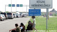 Ungarn Grenzübergang zu Serbien